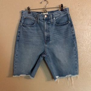 New Madewell high rise denim shorts size 28